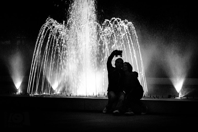 Selfie u fontány / Selfie at the fountain